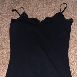 Rave black tank top